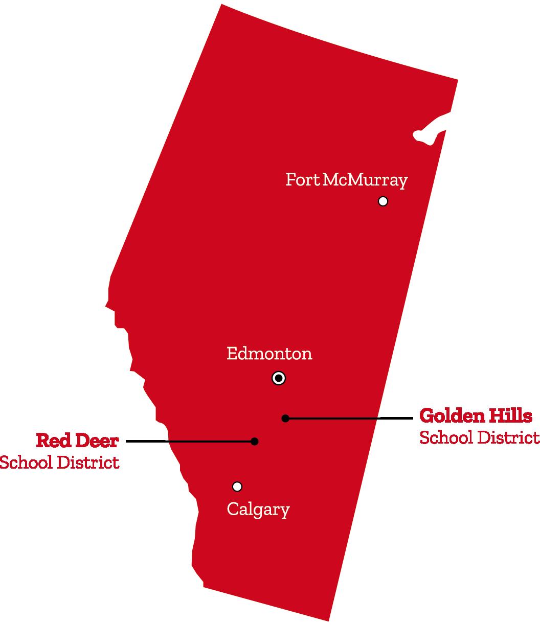 distritos canada alberta
