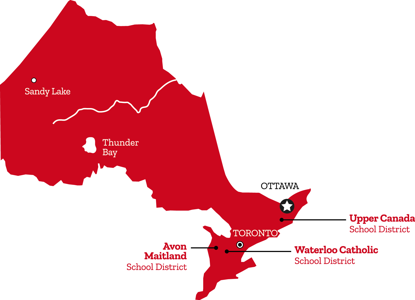 distritos canada ontario